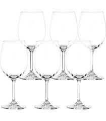 conjunto de 6 taças para água em vidro cristalino 450ml roberta bohemia