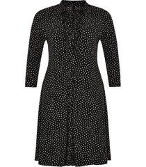 blouse-jurk met ruches dots