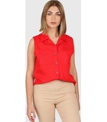 camisa roja montjuic sodoma lino