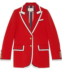 gucci stretch viscose jacket - red