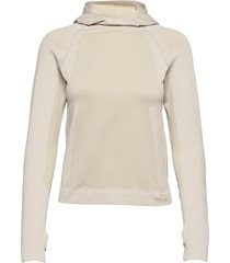 hmllala seamless hoodie sweat-shirts & hoodies fleeces & midlayers brun hummel