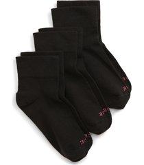 women's hue cotton body 3-pack ankle socks