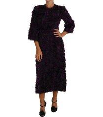 fringe midi sheath dress
