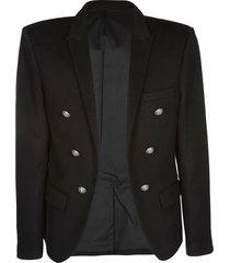 balmain black cashmere blazer