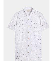 camisa manga corta cuello camisero