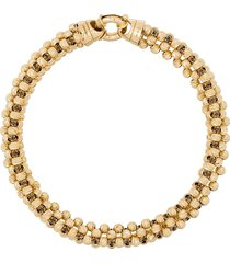 adina reyter 14kt yellow gold diamond-cut chunky-chain bracelet