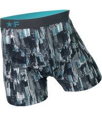 funderwear heren boxer 76002 manhattan bleu-s