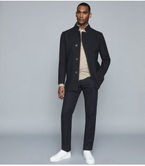 reiss acres - twill jacket in navy, mens, size xxl