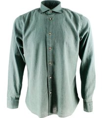 borriello napoli borriello collar shirt, hydro washed in linen and cotton with hand-sewn mother-of-pearl buttons
