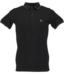 born with appetite jason - polo fine pique 18108ja40/990 black
