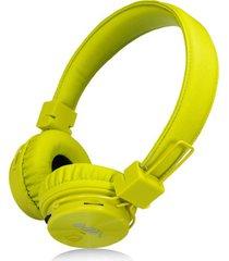 audífonos gamer, gaming estéreo hd inalámbricos audifonos bluetooth manos libres de los auriculares originales de nia x3 deportivos con la radio de la tarjeta fm del tf de la ayuda del micrófono (verde)