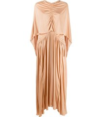 roksanda maha cape-overlay maxi dress - neutrals