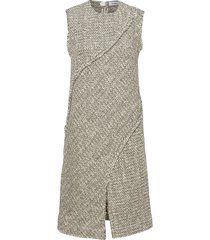 rodebjer adrianna tweed dresses knitted dresses groen rodebjer