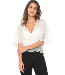 blusa colcci laise branca