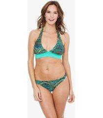bikini verde mare moda mosaic