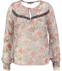 morgan transparante polyester blouse polyester