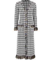 tweed cardigan dress