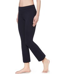 calzedonia cropped flared leggings woman blue size s