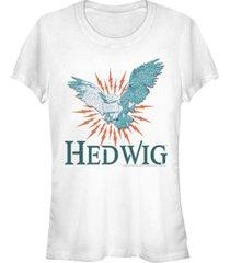 fifth sun harry potter hedwig messenger owl women's short sleeve t-shirt