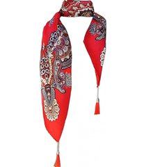 pañuelo lana guirnalda rojo viva felicia