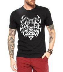 camiseta criativa urbana moto tribal