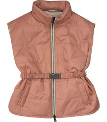 brunello cucinelli water-resistant nylon down vest with monili and thindown® padding