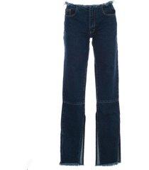 jeans open bottom w/bottons