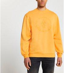 river island mens orange 'casa studios' sweatshirt