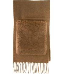 max mara wktedd1 wool teddy scarf with fur pockets