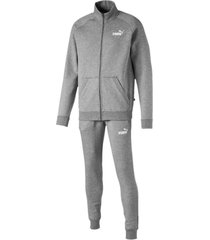 conjunto gris puma clean sweat suit