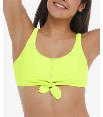 body glove spectrum kate scoop-neck ribbed swim top women's swimsuit