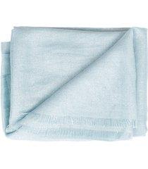 aqua cashmere blend scarf