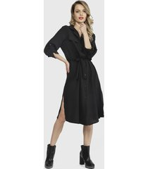 vestido nrg negro - calce holgado