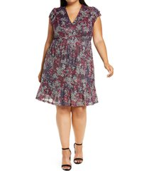 plus size women's michael michael kors zinnia ruched dress