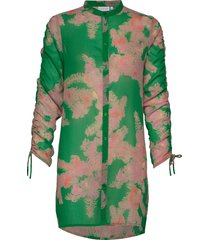 shirt w. tie string at sleeves tuniek groen coster copenhagen