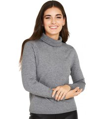 sweater cuello tortuga gris nicopoly