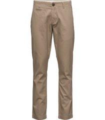 twisted twill chions''32 chino broek beige knowledge cotton apparel