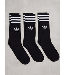 adidas originals solid crew sock strumpor svart