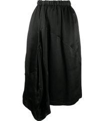 comme des garçons comme des garçons asymmetric draped midi skirt -