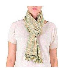 cotton scarf, 'tzutujil valley' (guatemala)