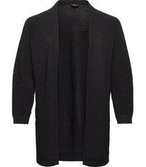 cardigan long sleeves plus pockets stickad tröja cardigan svart zizzi