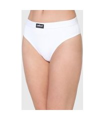 calcinha colcci underwear tanga canelada branca