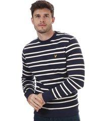mens double stripe sweatshirt