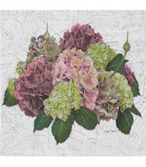 """jean plout 'hydrangea vignette pink' canvas art - 14"""" x 14"""""""