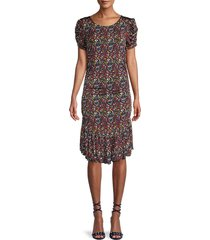 tanya taylor women's effie confetti floral dress - confetti - size m (8-10)