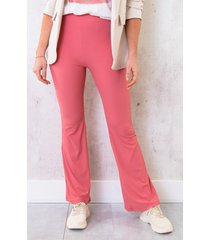 flared broek extremely stretch koraal