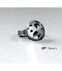 srebrny pierścionek planeta silver planet