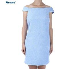 wave bañador de baño toalla traje de desgaste (azul)