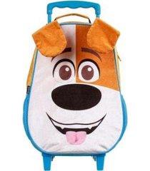 mochila infantil pets pelúcia com rodinhas