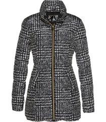 giacca trapuntata lunga (nero) - bpc selection